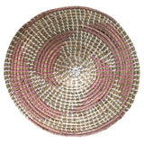 Seagrass Basket Small Pink White