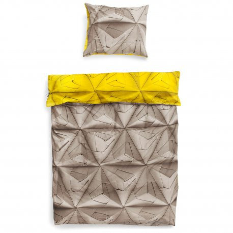 Monogami Mustard yellow duvet cover
