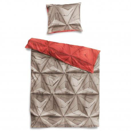 Monogami Coral Red duvet cover