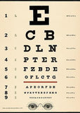 Wallhanging Vintage Eye Chart