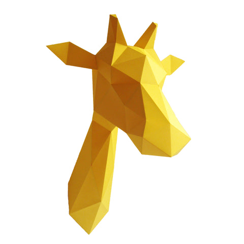 Paper Animal Sculpture Kit Yellow Giraffe