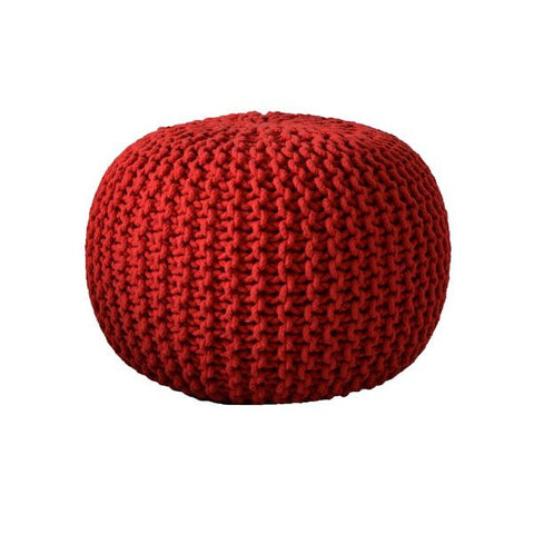 Deer Chill Out Pouf Red