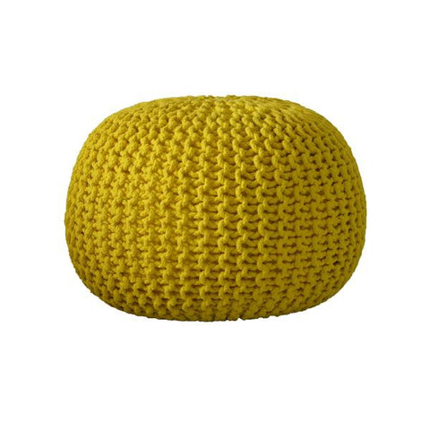 Deer Chill Out Pouf Yellow