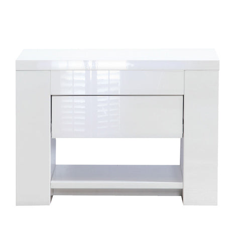 Somero Gloss White Nightstand