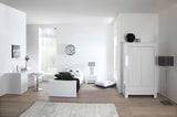 Somero Gloss White Single Bed