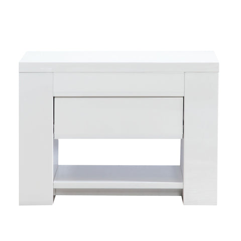 Somero Matte White Nightstand