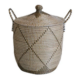 Seagrass Basket Black White