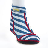 Beach Socks White-Blue Stripes (Lieve)