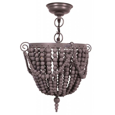 Bead Hanging Lamp Grey