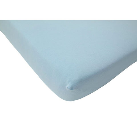 Jollein Fitted Sheet Jersey Light Blue