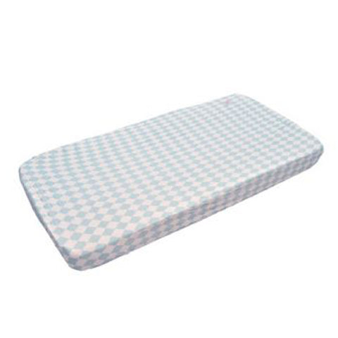 Lodger Fitted Cot Sheet Blue