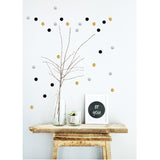 Box Stickers Black Silver Gold Dots