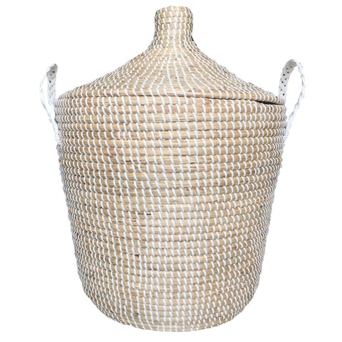Seagrass Basket Natural White