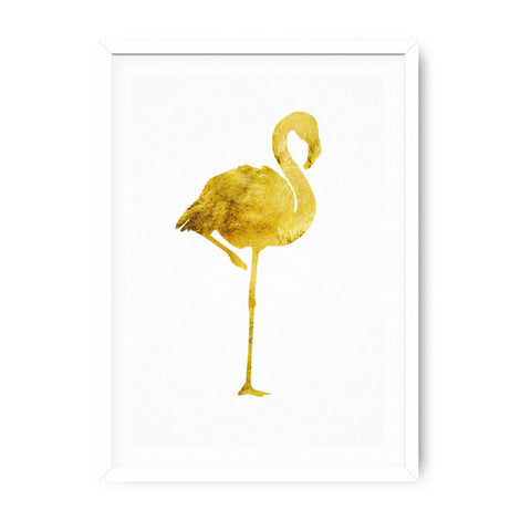 Poster 50x70 Flamingo Gold
