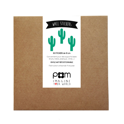 Box Stickers Green Cactus