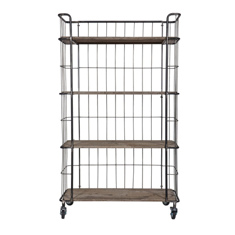 Metal Industrial Bookcase Large