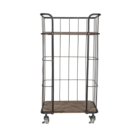 Metal Industrial Trolley Small