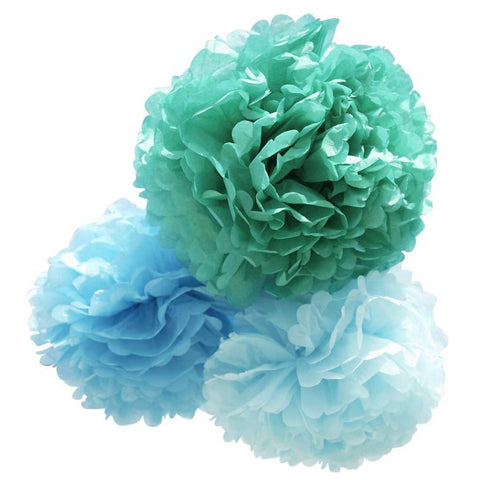 Pom Pom Set Small Blue