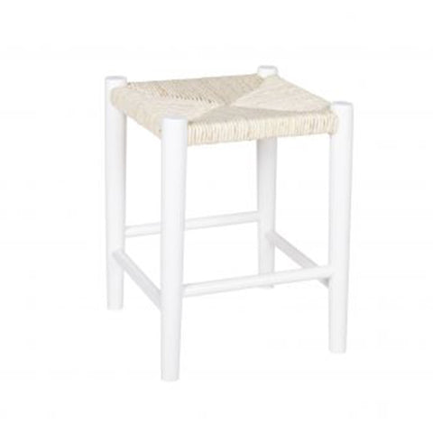 Stool Square Wood White