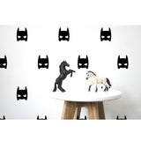 Box Stickers Black Super Hero