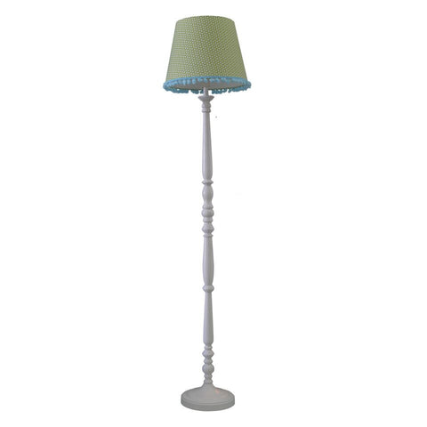 Standing lamp base with 'Moepa' shade