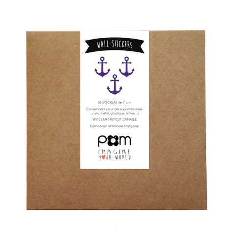 Box Stickers Blue Anchors