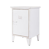 Max Metal Nightstand White