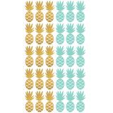 Box Stickers Gold and Mint Pineapple