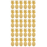 Box Stickers Gold Pineapple