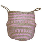 Belly Basket Pink Braided