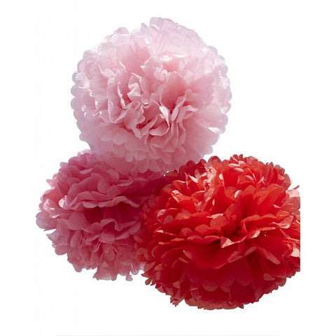 Pom Pom Set Small Red
