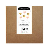 Box Stickers Gold and Pink Hearts