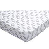 Lodger Fitted Cot Sheet Grey