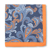 Cotton Silk Paisley Pochette in Orange