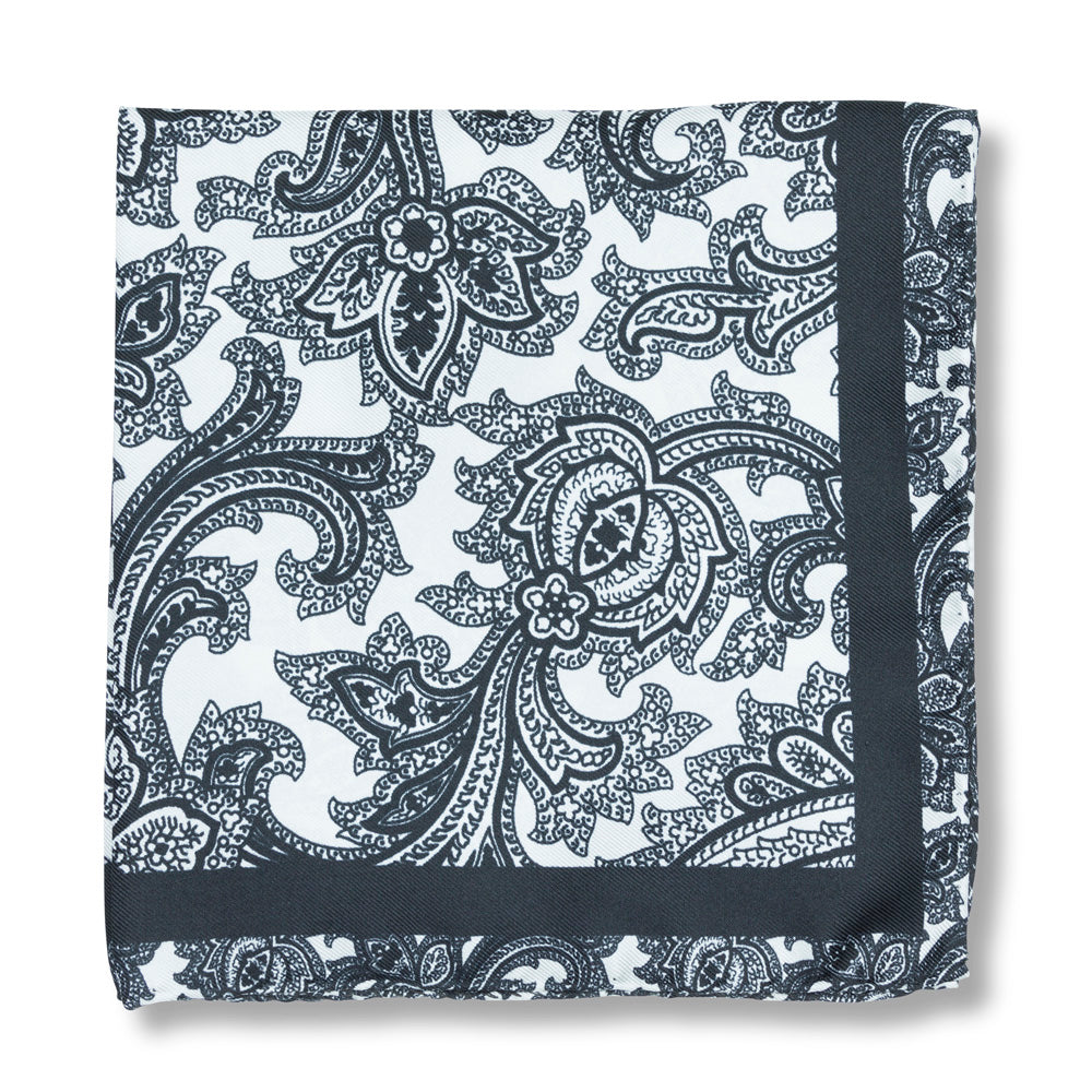 Wild Paisley pochette in Black and White