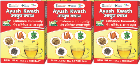 Ayush Kwath Family Pack 3 Box X 72 gm | 72 Cups (150ml)