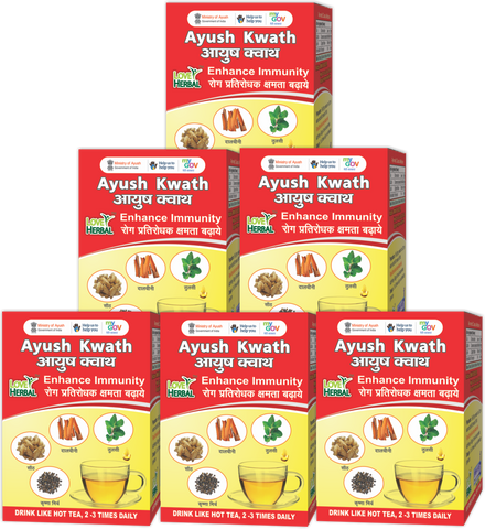 Ayush Kwath Family Pack 6 Box X 72 gm | 144 Cups (150ml)