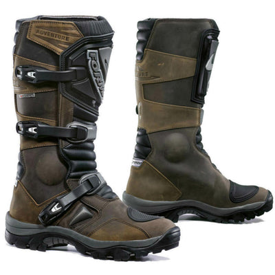 Forma Adventure motorcycle boots, brown tall adv riding dual