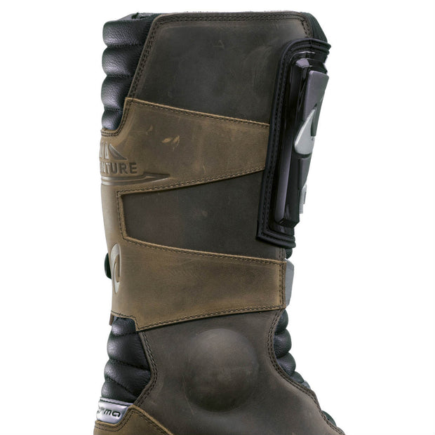Forma Adventure motorcycle boots brown inside