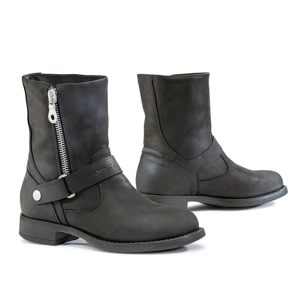 Forma Eva womens black motorcycle boots