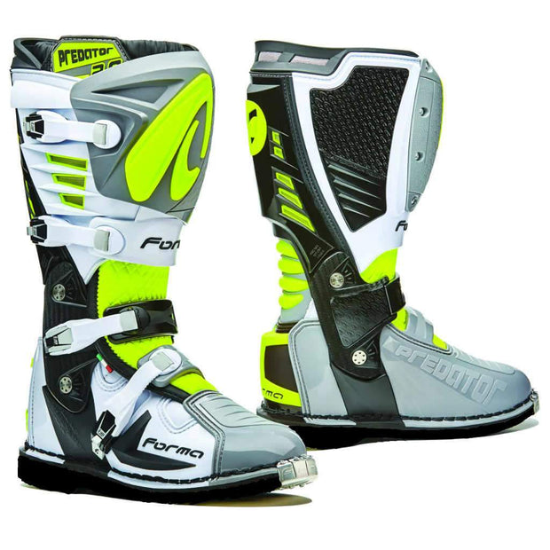 PREDATOR 2.0 ENDURO - GREY / WHITE / FLO YELLOW