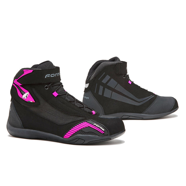 Forma Genesis Lady motorcycle boots, black fuchsia