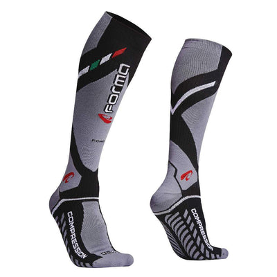 FORMA MEDIUM ROAD SOCKS - BLACK / GREY