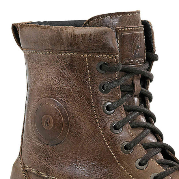 Forma Naxos motorcycle boots brown urban footwear ankle protection lace