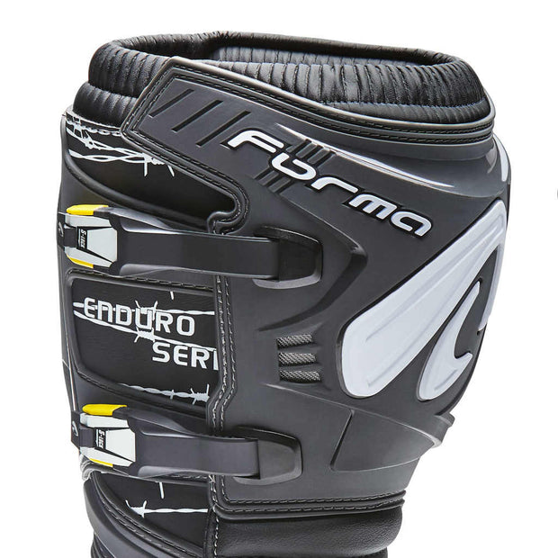 forma terrain tx enduro motorcycle boots anthracite grey shin protection