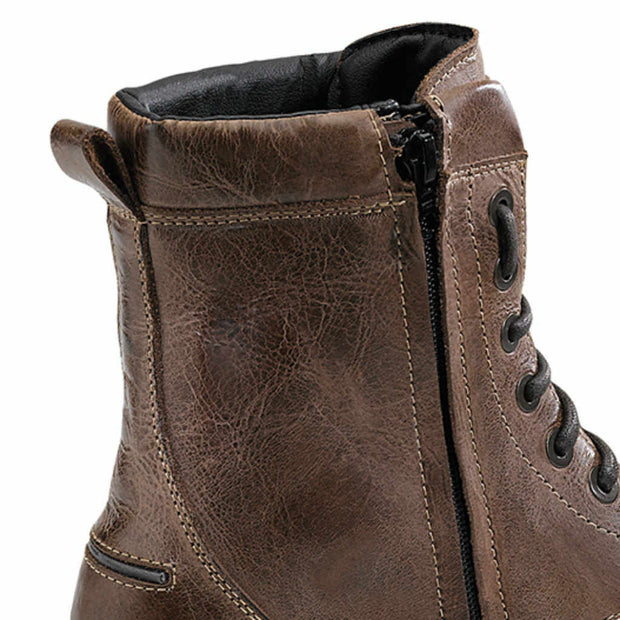 Forma Naxos motorcycle boots brown urban footwear zip