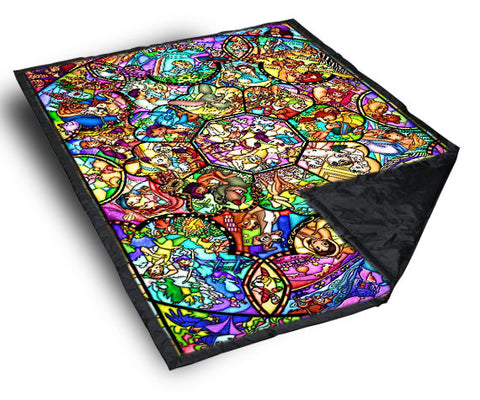 "All Disney Heroes Stained Glass custom Blanket 40"" X 50"", Blanket - fixcenters, fixcenters"