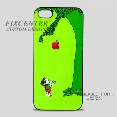 THE GIVING TREE - iPhone 5/5S Case iPhone 5 / Plastic / Black, iPhone 5/5S Case - fixcenters, fixcenters  - 1