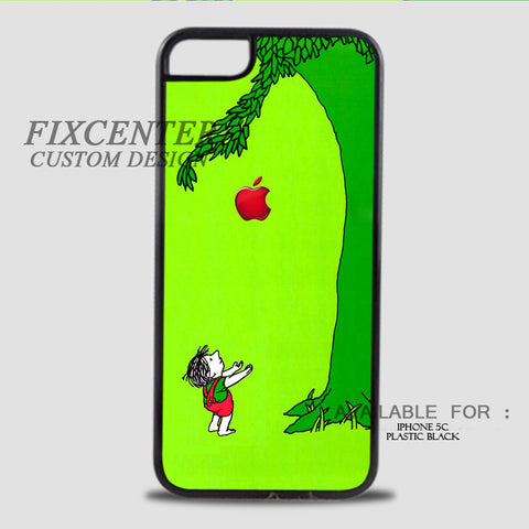 THE GIVING TREE - iPhone 5C Case Plastic / Black, iPhone 5C Case - fixcenters, fixcenters  - 1