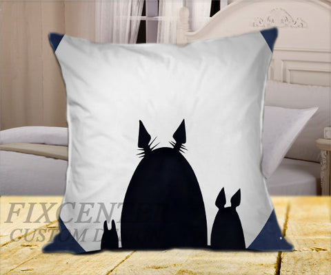 "My Neighbor Totoro on Square Pillow Cover 16"" X 16"" / one side, Square Pillow Case - fixcenters, fixcenters"